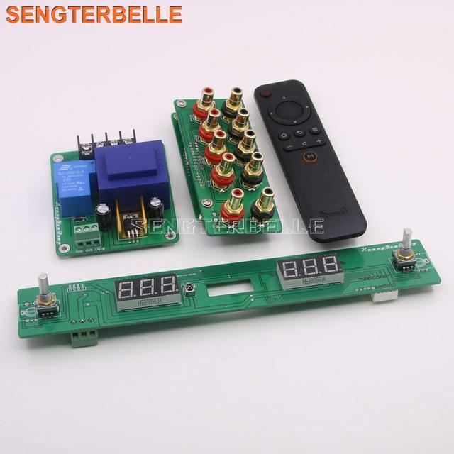 組み立て 128 ステップリレーリモートボリュームコントロールボード hifi プリアンプボード純粋な抵抗シャントボリュームコントローラ
