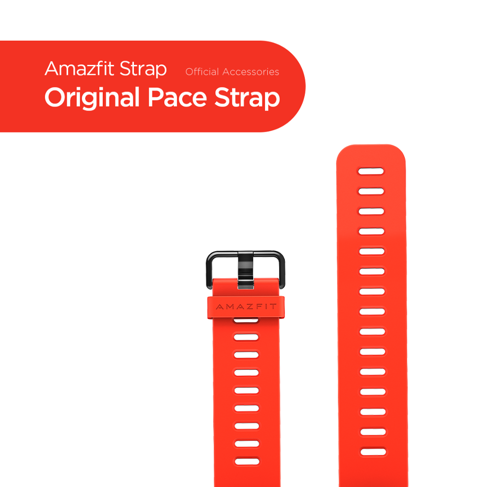 Original Amazfit Pace Strap Smart Watch Black Red Strap For Amazfit Smart Watch