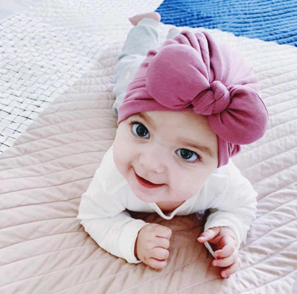 11 ألوان الطفل الشتاء القبعات قبعات لحديثي الولادة طفل بنين بنات bowknot الشتاء قبعة الصلبة قبعة طفل صور الدعائم الطفل بونيه قوالب
