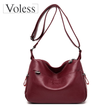купить Crossbody Bags for Women 2019 Messenger Bags Ladies Vintage Handbag High Quality Female Soft Leather Shoulder Bag Bolsa Feminina дешево