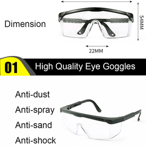 Image 5 - Protective Safety Glasses Work Anti Dust Anti Fog Windproof Anti Dust Saliva Transparent Goggles Eye Protection