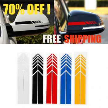 1Pair Car Sticker Rear View Mirror Decor Side Decal Vinyl Truck Vehicle Body Accessories Racing Strips DIY Car Body Styling image