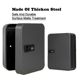 Image 4 - New Multi Keys Safe Storage Box Combination/Key Lock Spare Car Keys Organizer Box For Home Office Factory Store Use