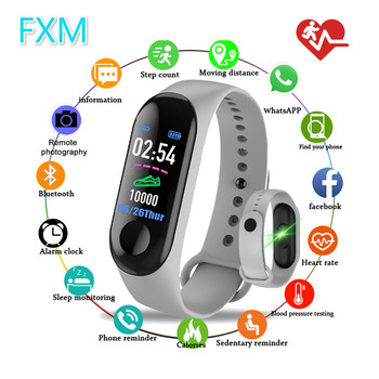 M3 Sprrt Continuous Heart Rate Monitor Smart Bracelet Touch Screen Fitness Tracker Smartband TPE Wristband For Men Women