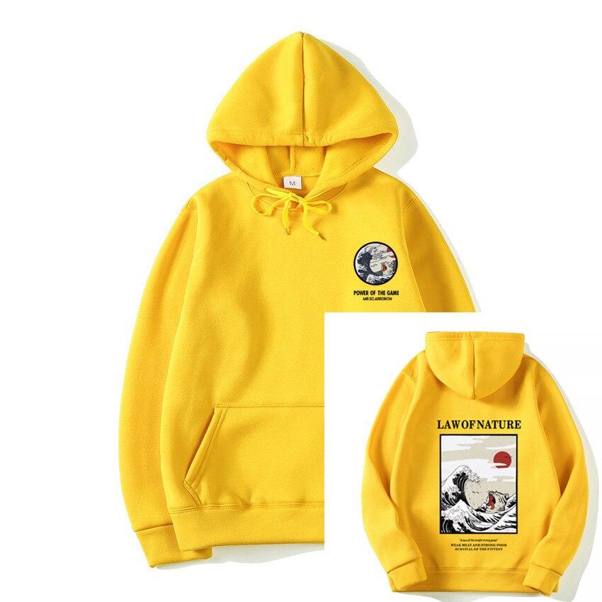 Hoodies Men Women Newest Japanese Funny Cat Wave Printed Hoodies 2019 Winter Japan Style Hip Hop Casual Sweatshirts Streetwear