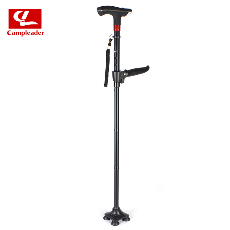 Elderly Wand Elderly Stick Anti-slip Walking Stick Light Included Legs Collapsible Lightweight Old Man Walking Aid Crutches