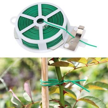 Portable Garden Twist Tie Roll Wire Twist Wire Metal Cable Ties Reusable Garden Cable Ties 20M/30M/50M/100M Best Selling 2020