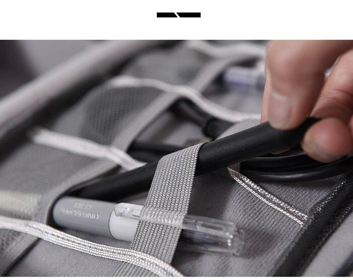 Carregador Portátil USB Digital Gadget Organizer Cosméticos