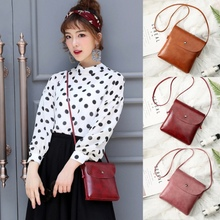 US Stock PU Leather Retro Messenger Bags For Women Solid Color Girl Bag Flap Pocket Vintage Crossbody Bags cheap Shoulder Bags Shoulder Crossbody Bags Hasp Casual Polyester Single None