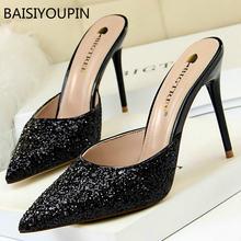 Baotou/Новые летние модные простые туфли на шпильках с закрытым