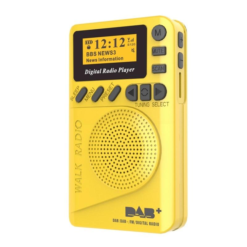 Brand New Popular Digital & FM Radio Personal Pocket Handheld Digital Radio SD Card MP3 Player Built-in Rechargea