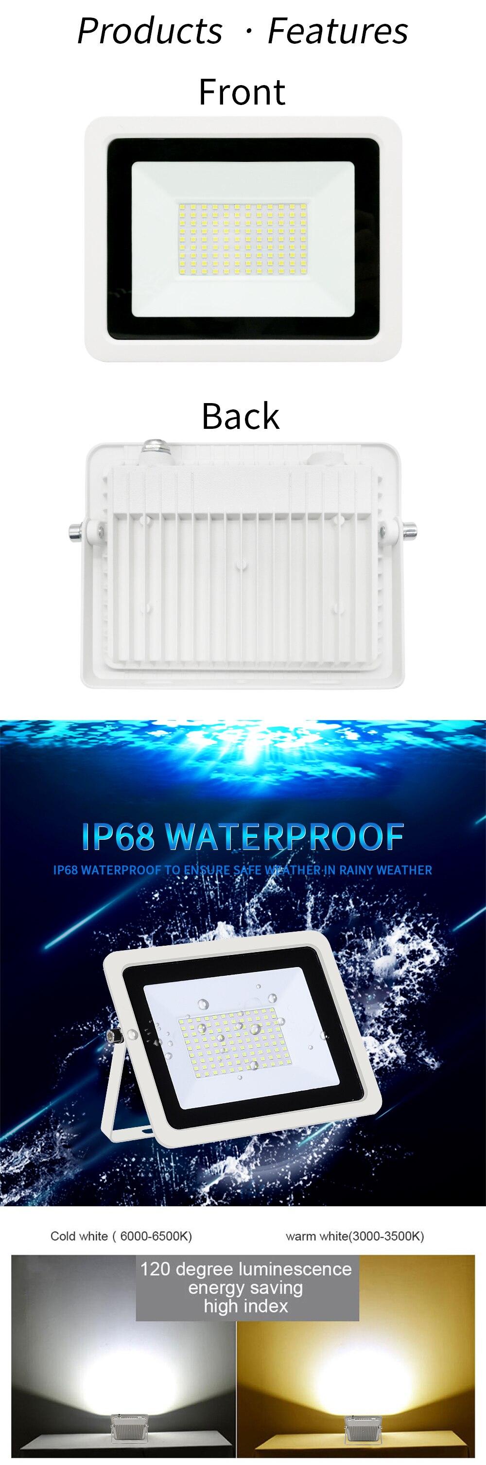 ip68, refletor holofote de parede com 220v,