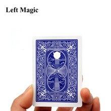 Trucos De Magia De cigarrillos a través De la tarjeta, para Magia profesional De mago Magia, ilusión De escenario, camionero De Magia, 1 Uds., C2017