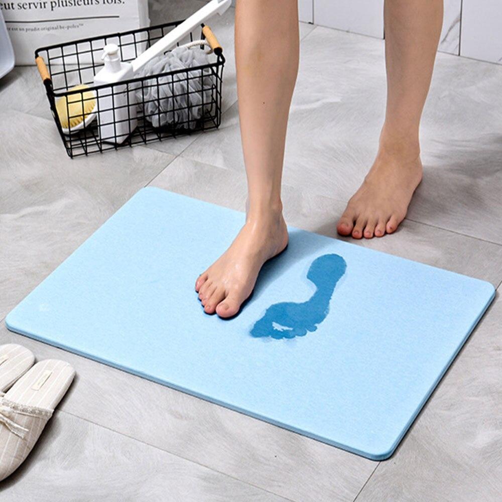 Tapis de porte de bain à séchage rapide tapis de salle de bain absorbant tapis de sol Durable terre porte baignoire douche tapis de bain tapis pour salle de bain toilette