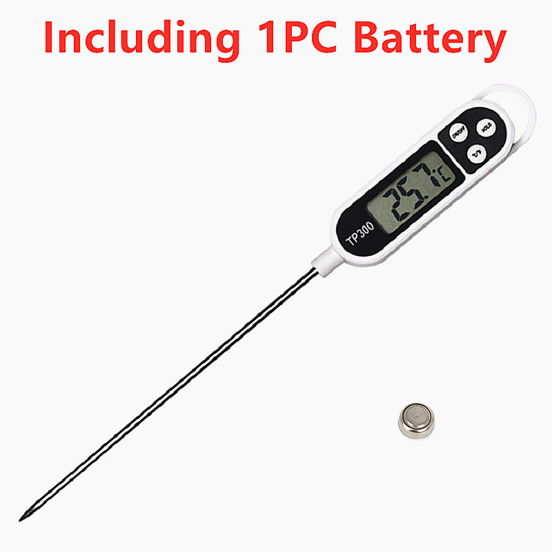 1PC Digital Probe Thermometer BBQ Thermometer Food Thermometer Long Probe Electronic Cooking Thermometer Kitchen Cooking