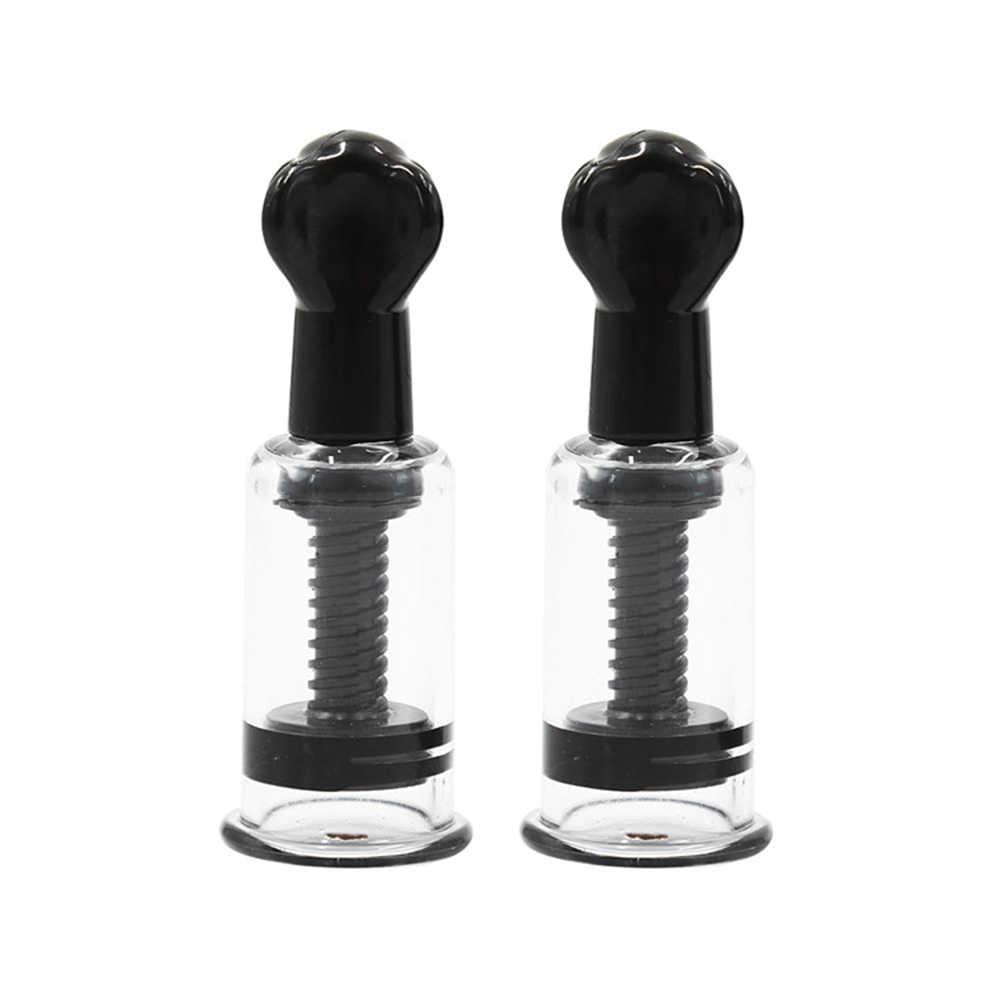 Succionador de pezón de 4 tamaños, sujetador de masaje de pecho Sexy, bomba de vacío, succionador de leche, juguete sexual vibrador para adultos