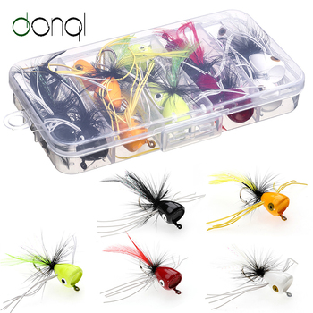 DONQL 15Pcs Insect Bait Flies Fly Fishing Lures Super Sharpened Crank Hook Fish Tackle Artificial Bait Insect Wobblers Lures