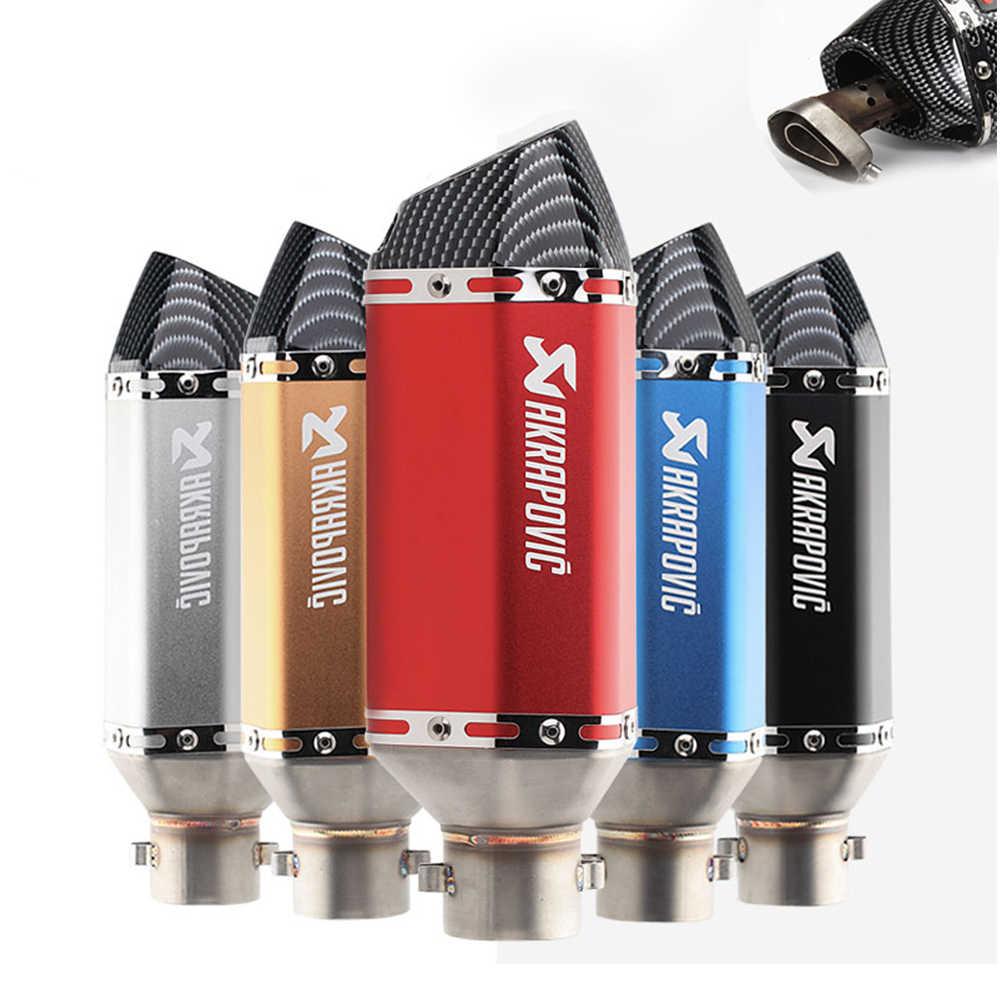 Asli Akrapovic Pipa Knalpot untuk Yamaha Aerox 50 155 650 Xvs Banshee 350 Blaster 200 BWS 100 125 50 DB Pembunuh