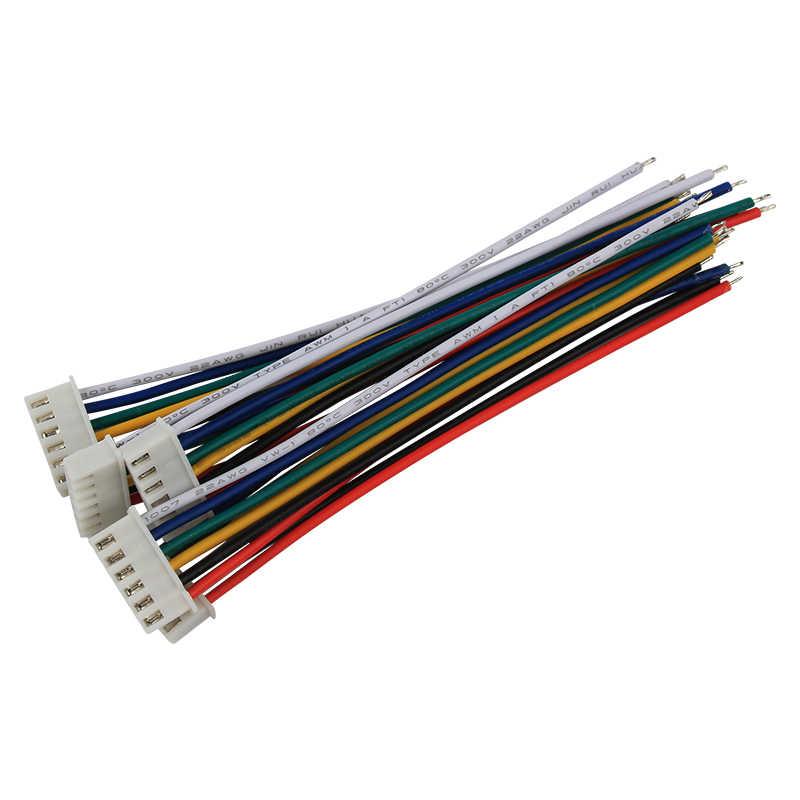 5 sztuk 2/3/4/5/6Pin bateria LiPo zabawka do utrzymywania równowagi z ładowarką wtyczka linia/drut/złącze 22AWG 100mm Balancer cable