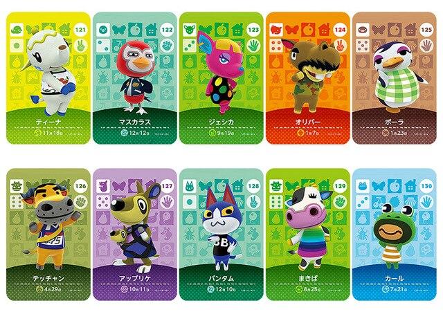 Amiibo Carta NS Gioco della Serie 2 (da 121 a 160) Animal Crossing Carta di Lavoro per