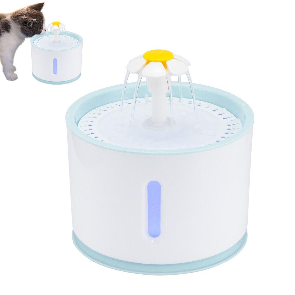 2.4L автоматический водный фонтан для кошек с светодиодный USB Электрический Дозатор для питья воды для домашних животных поилка для щенков со...