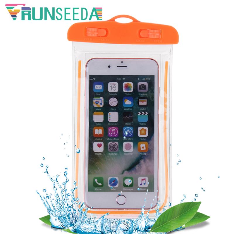 New Swimming Bag Surfing Mobile Phone Case Storage Bag Pack Sealed Waterproof Touch Screen Smartphones Pouch For Diving Use