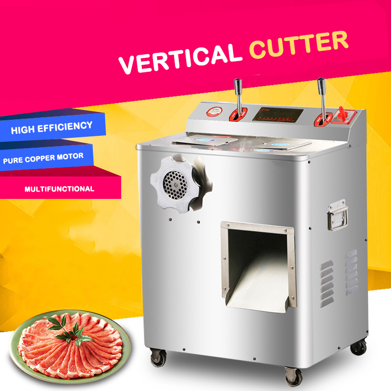 Fine Vertical Cutter, Multifunctional Commercial Household Electric Cutter  Meat Grinder  Shredded Meat Stainless Steel Enema