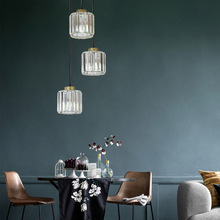 Postmodern Crystal Creative Restaurant Glass Chandelier Art Hotel Iron Gold Base Industrial Lamps Dining Room Lights