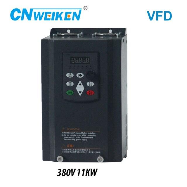 Преобразователь частоты для двигателя 380 В 11 кВт 3 фазный вход и три выхода 50 Гц/60 Гц привод переменного тока VFD векторный контроллер