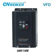 Convertisseur de fréquence pour moteur 380V, 11kw, 3 phases entrées et trois sorties 50hz/60hz, contrôleur vectoriel VFD