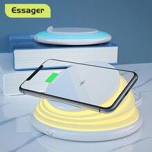 Essager bezprzewodowa ładowarka qi dla iPhone 11 Pro Xs Max Samsung szybkie bezprzewodowe ładowanie Pad stacja dokująca lampka nocna uchwyt telefonu