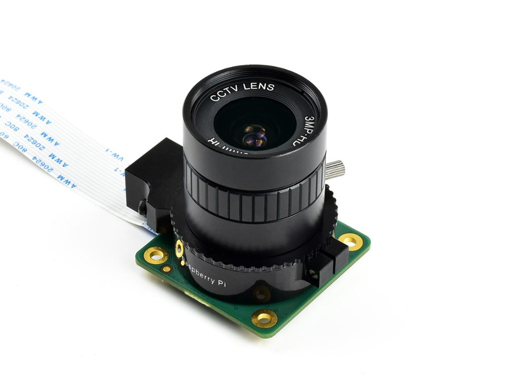 Quality Industrial Wide Angle Lens,6mm Focal Length, 63° Field Angle, CS-Mount, Compatible With Raspberry Pi High Quality Camera