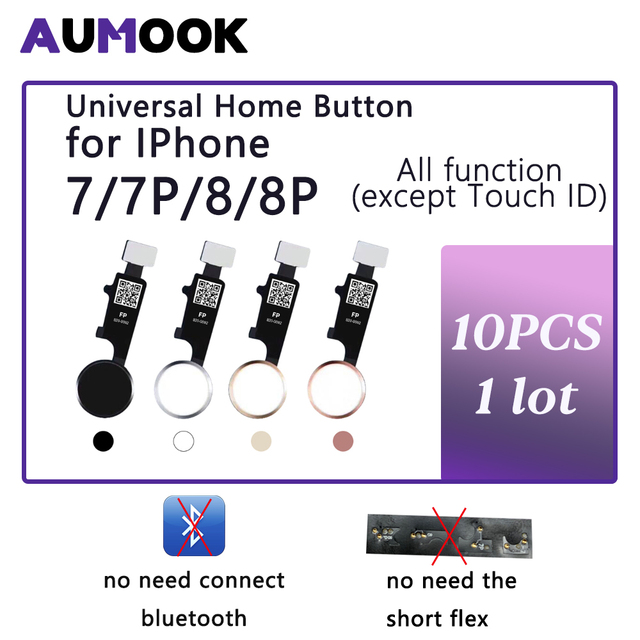 10 adet 3rd nesil evrensel ev düğmesi iPhone 7 7 artı 8 8 artı flex kablo geri sıradan ev düğme dönüş fonksiyonu