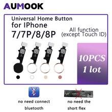 10pcs 3rd Generation Universal Home Button For iPhone 7 7 plus 8 8 plus flex cable Restore ordinary home button return function