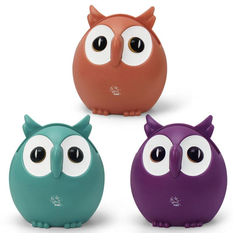 Creative Plastic Cute Owl Music Box Ornament Christmas Gift Birthday Party Decor Desktop Living Room Decorative Ornaments