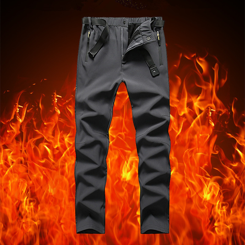 Men Skiing Hiking Pants Winter Sports Windproof Waterproof Snowboard Snow Pants Thick Warm Trousers Men Trekking Fishing Pants