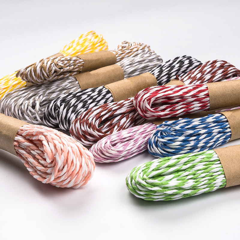 10m/roll Rainbow Lafite Rope Color Hemp Rope Decoration Bundle Rope for Gift Package DIY Crafts Handmade(China)