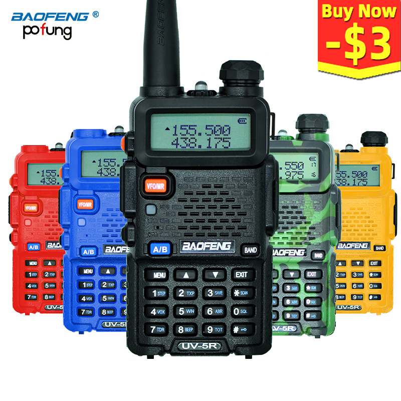 Baofeng UV-5R Walkie Talkie Professional CB Radio Station Baofeng UV5R Transceiver 5W VHF UHF Portable UV 5R Hunting Ham Radio image