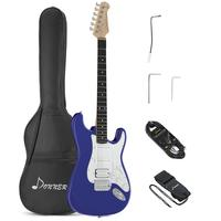 Donner 39 Inch Electric Guitar with Case Electric Guitar Bag Starp Cable 6 Strings Guitar Accessories Blue Standard Brand New