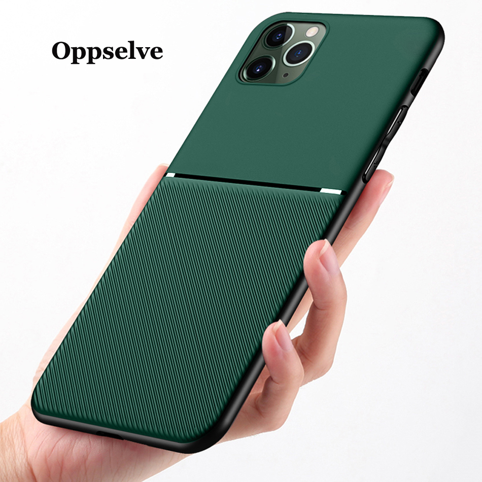Ultra-thin Magnetic <font><b>Silicone</b></font> Matte Phone <font><b>Case</b></font> For <font><b>iPhone</b></font> 11 Pro Max XSmax XR XS X 8 7 <font><b>6s</b></font> 6 S Plus <font><b>Leather</b></font> Protection Cover Shell image