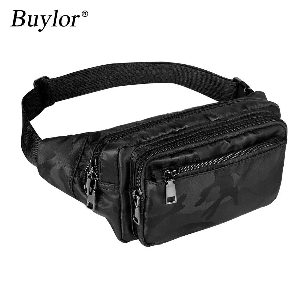 Buylor Belt  Bag  Men Sports Waist Pack Hot Bum Bag Camouflage Waist Bag Fanny Pack Unisex Bum Bag Waterproof Phone Wallet Pouch