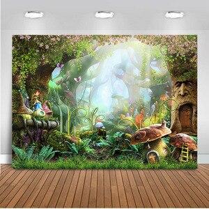 Image 5 - Mehofoto tło do zdjęć z motywem dżungli wiosna tło do budki fotograficznej Studio impreza w stylu Safari tło tkanina winylowa bez szwu 812