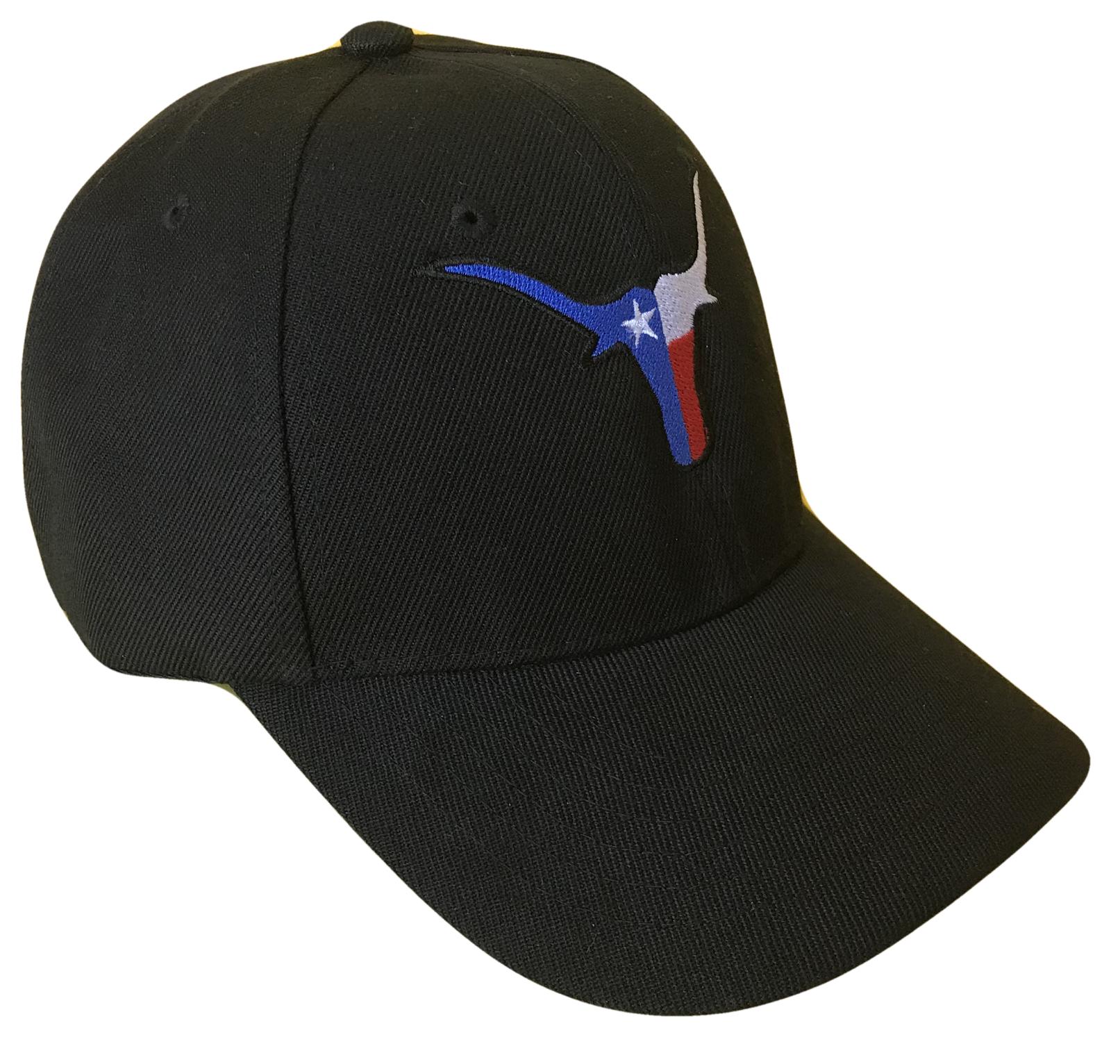 Printed Texas Longhorns State Flag Adjustable Baseball Cap Hat Adjustable