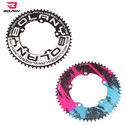 BOLANY 130 BCD BMX Folding Bicycle Chainwheel Ultralight Narrow Width Anti-Hanging Chain Plating Anode 56T Aluminum Alloy 7075