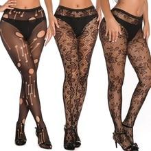 Women Sexy Tights Stockings Female Black Fishnet Transparent Pantyhose Long Stockings Thigh High Pantyhose embroidered detail pantyhose stockings