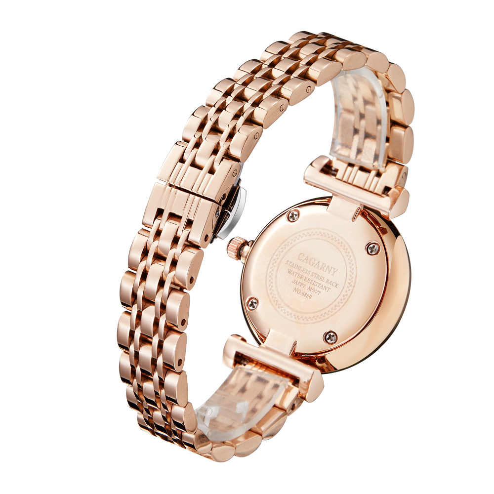 זרוק משלוח כסף רוז זהב נירוסטה צמיד שעון נשים אופנה נשים קוורץ שעונים גבירותיי שעון נשי מתנת XFCS