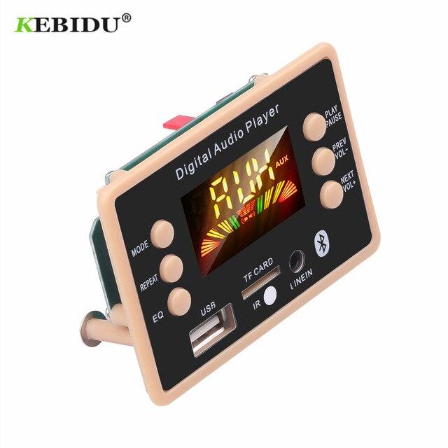 Módulo de decodificación MP3 Bluetooth 5,0, reproductor MP3 USB para coche, 5 v, 12v, WMA, WAV, ranura para tarjeta TF, módulo de placa remota USB / FM