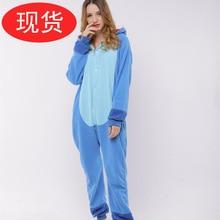 Pajama ladys pyjamas fall/winter the latest blue patch is Stella cartoon animal