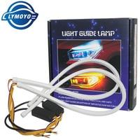 Tubo LED Flexible de flujo, señal de giro, freno, Circulación Diurna, color blanco DRL, 2x30/45/60cm