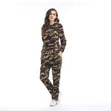 2019 conjunto de dos piezas chándal de mujer Otoño Invierno Pantalones de mujer trajes de sudor ropa con capucha de camuflaje ropa femenina ropa de salón